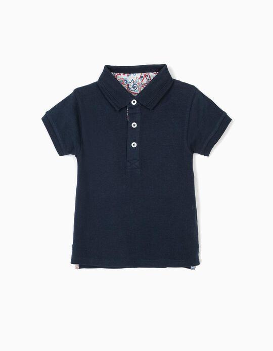Polo para Bebé Menino 'B&S', Azul Escuro