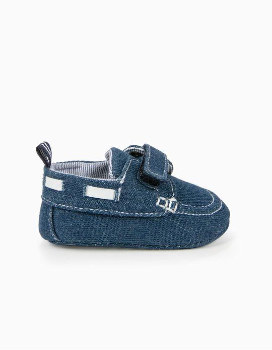 Zapatos de Denim para Recién Nacido, Azul