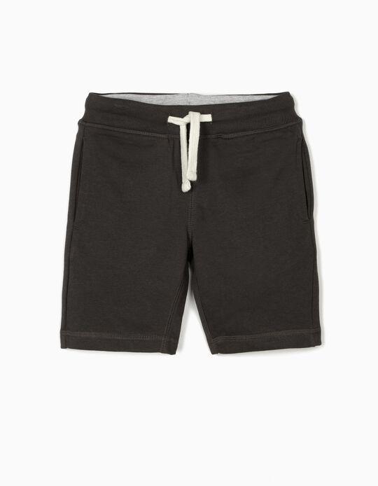 Sports Shorts for Boys, Dark Grey