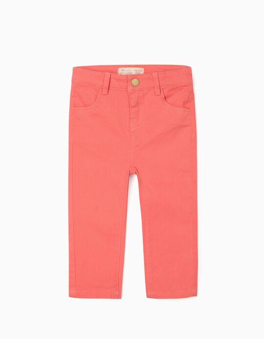 Pantalon sergé bébé fille, rose