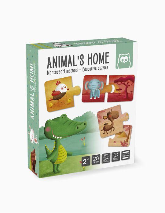 Puzzle Habitat Dos Animais Montessori Eurekakids