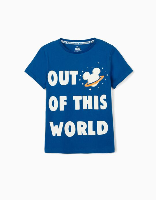 T-shirt para Menino 'Mickey Out of This World', Azul