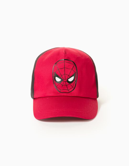 Gorra Bicolor para Bebé y Niño 'Spider-Man', Rojo/Negro