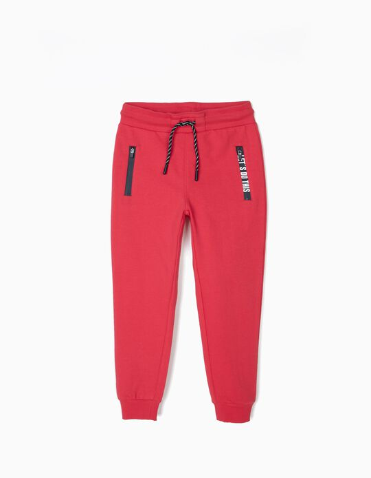 Pantalón de Chándal para Niño 'Let's Do This', Rojo