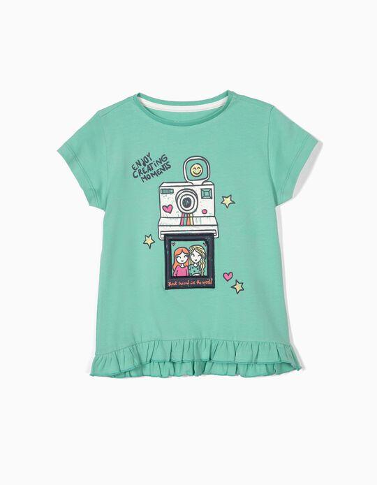 Camiseta para Niña 'Creating Moments', Verde