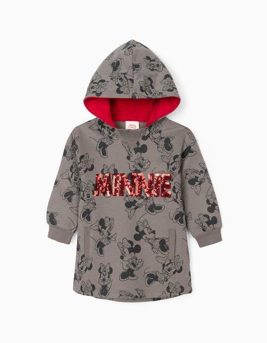 Vestido-Sweat para Bebé Menina 'Minnie', Cinza