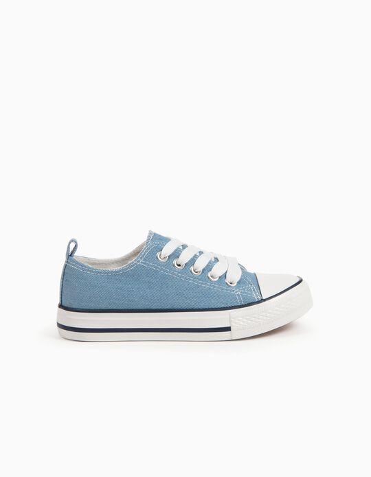 Zapatillas de Lona Azules