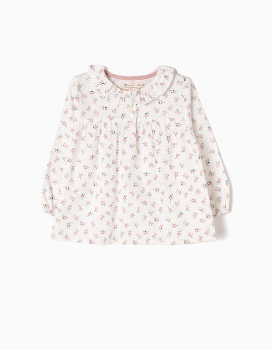 Blusa Vaporosa de Sarga con Flores