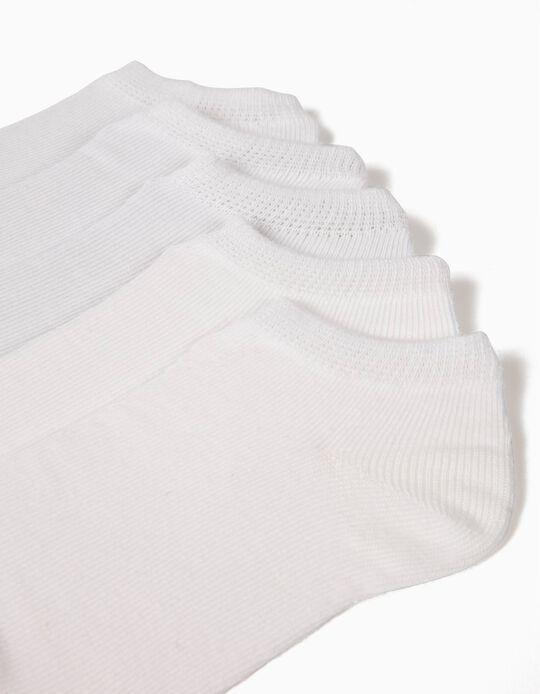 Pack 5 Pares de Calcetines Cortos Blancos