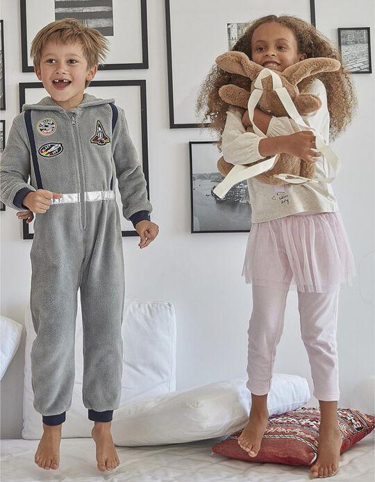 Pijama de Manga Larga para Niña 'Ballerina', Rosa y Beige