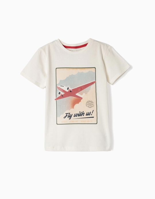 Camiseta para Niño 'Airlines', Blanco