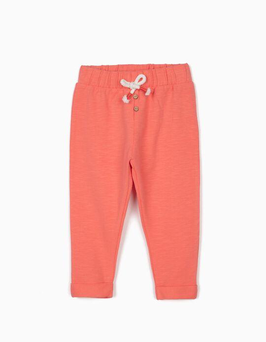 Pantalon de sport bébé fille, rose