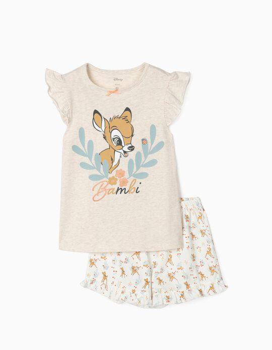 Pijama para Niña 'Bambi', Beige/Blanco