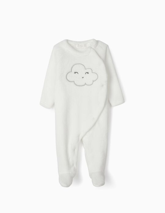 Babygrow Coralina para Recém-Nascido 'Cloud', Branco