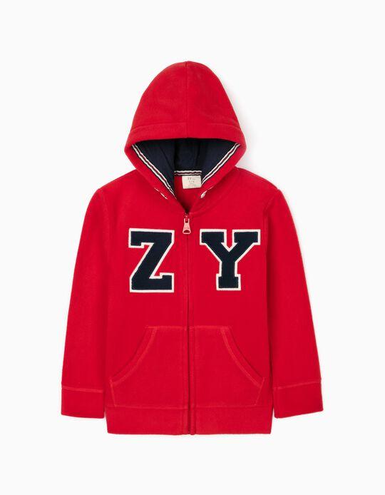 Polar Fleece Jacket for Boys 'ZY', Red