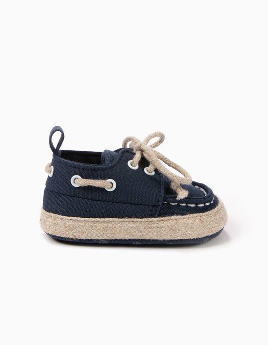 Sapatos de Vela Pre-Walker Azul Escuro