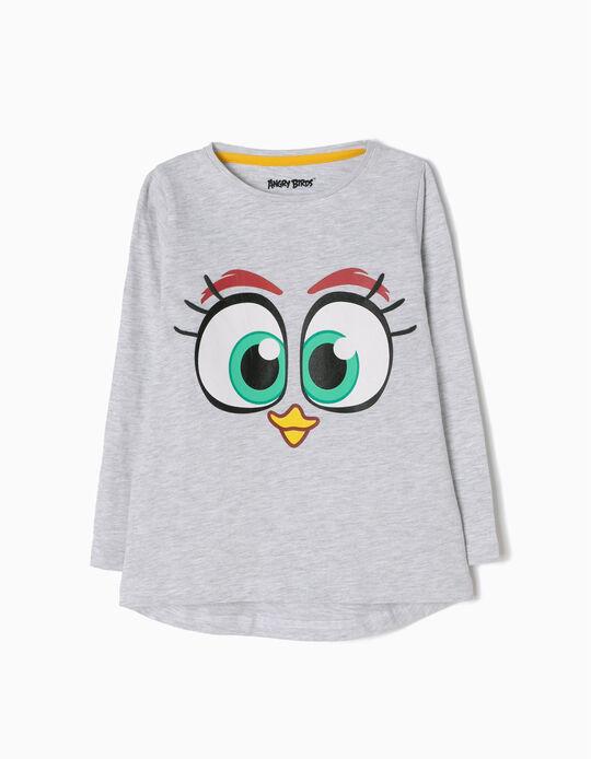 Camiseta de Manga Larga Angry Birds Gris