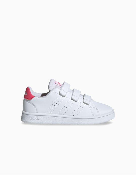 Zapatillas Infantiles 'Adidas Advantage', Blanco/Rosa