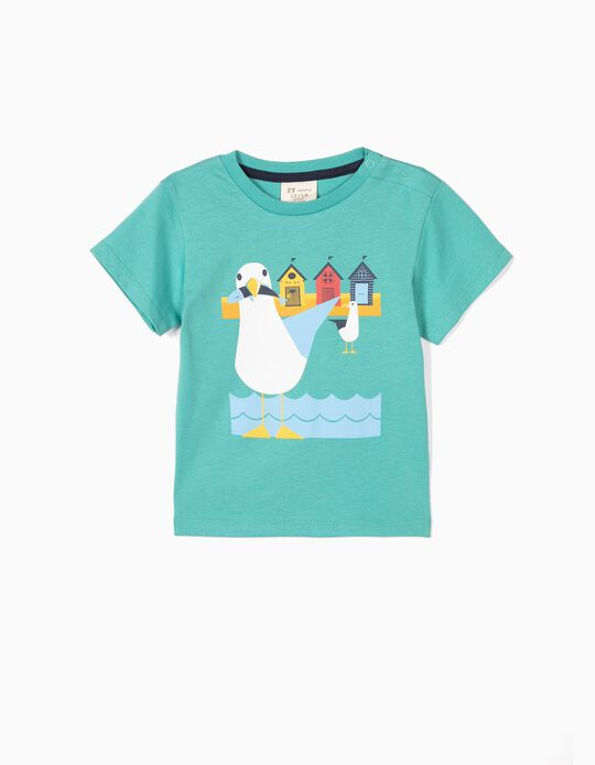 T-shirt for Baby Boys 'Seagulls', Green
