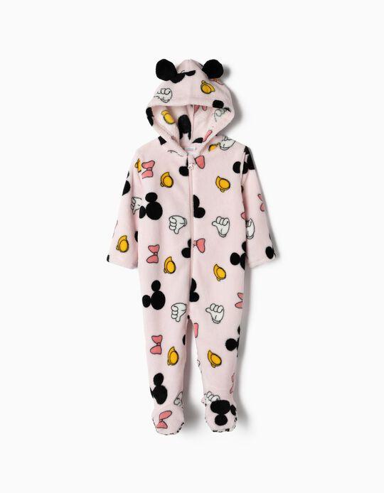Pijama-Macacão para Bebé Menina 'Minnie', Rosa