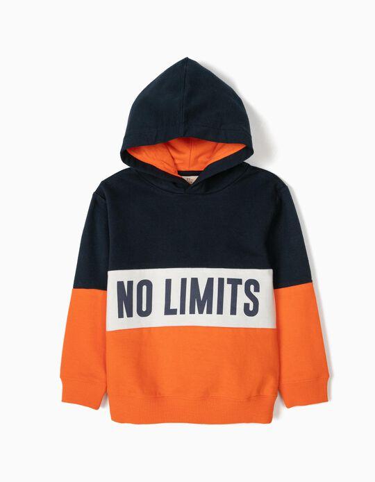 Sweatshirt com Capuz para Menino 'No Limits', Tricolor