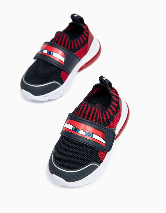 Zapatillas com Luces para Bebé Niño 'Cars', Azul Oscuro/Rojo