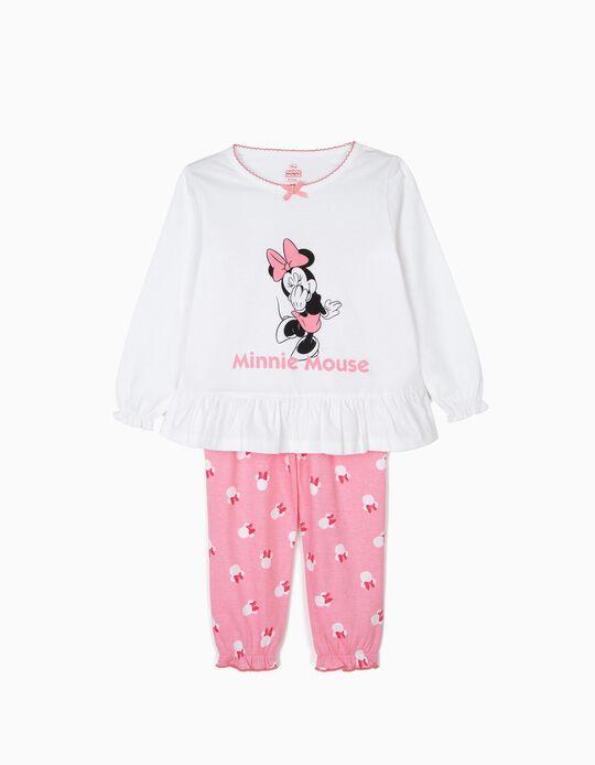 Pijama para Niña 'Minnie Mouse', Blanco y Rosa