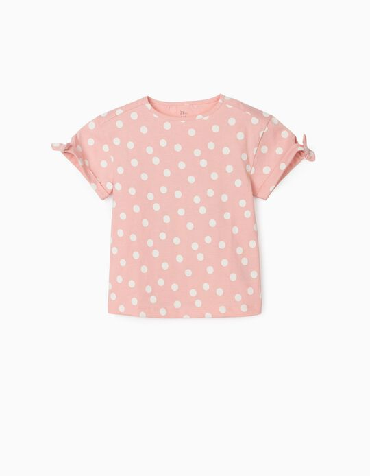 T-shirt for Girls, 'Dots', Pink