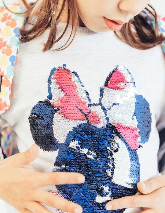 Sweatshirt Minnie para Menina com Lantejoulas Reversíveis, Cinza
