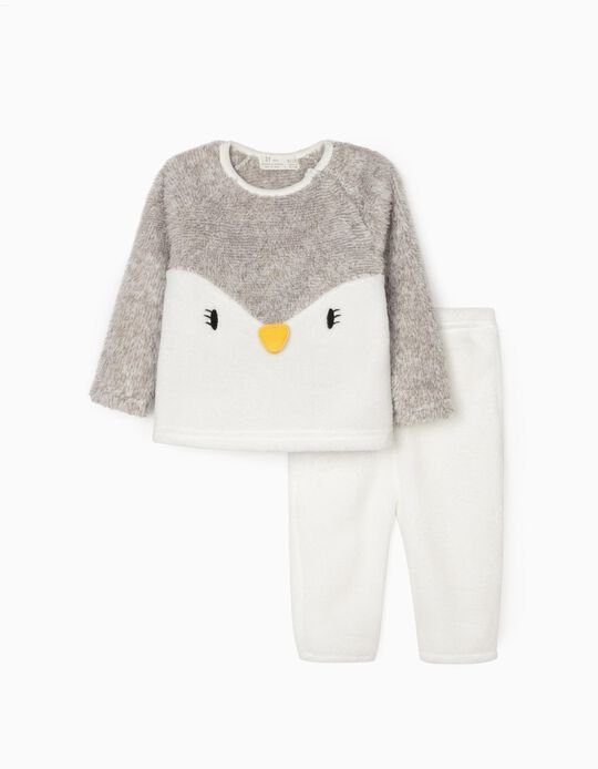 Pyjamas for Babies 'Penguin', White/Grey