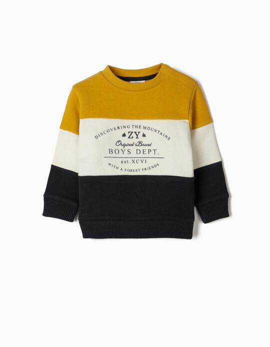 Sweatshirt for Baby Boys 'Mountains', Multicolour
