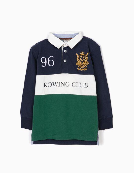 Polo Tricolor com Cotoveleiras Rowing Club