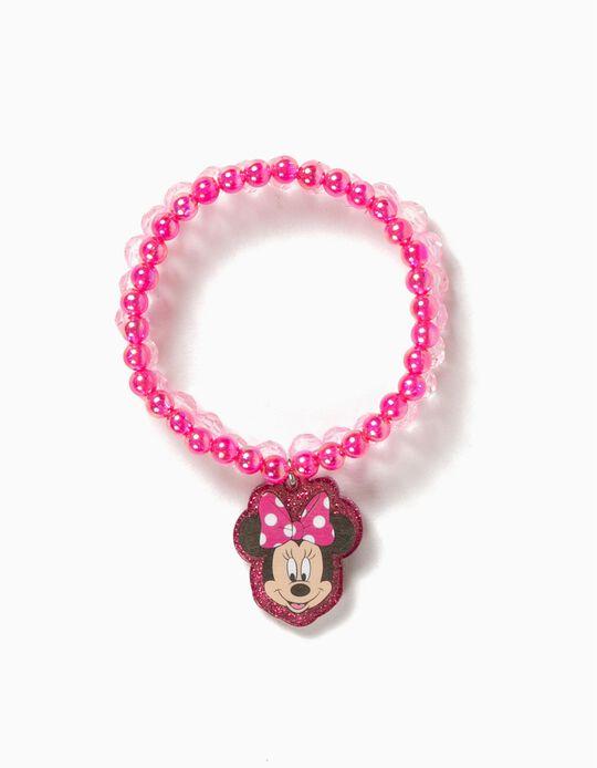 Pulsera Doble Minnie Rosa