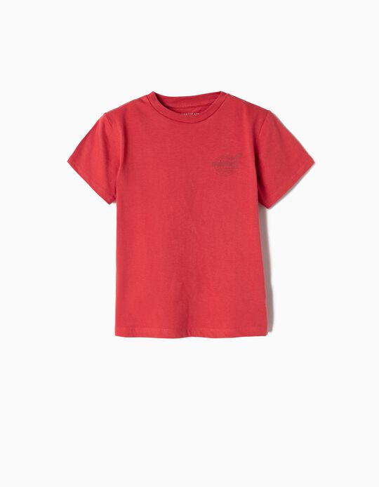Camiseta para Niño 'FlyWorld', Rojo