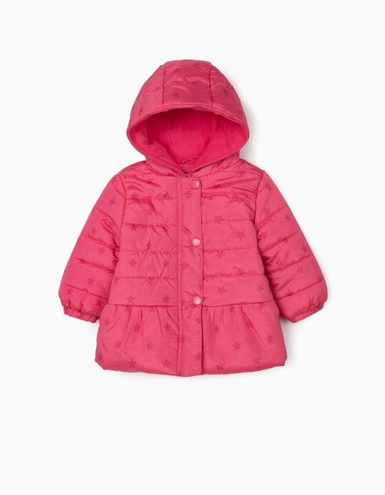 Padded Jacket for Baby Girls 'Stars', Pink