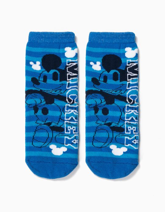 Meias Antiderrapantes para Menino 'Mickey', Azul