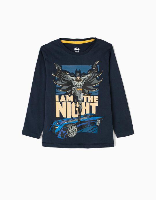 T-shirt Manga Comprida Batman Azul