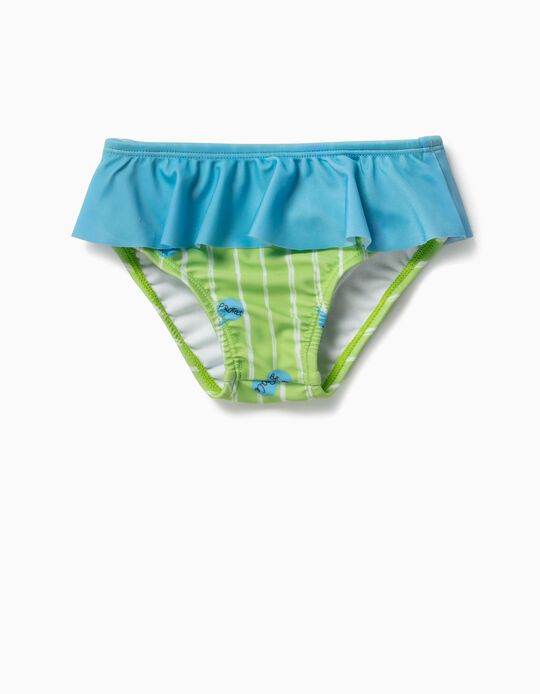 SWIM PANTIES GREEN, ORANGE12, 24/36M