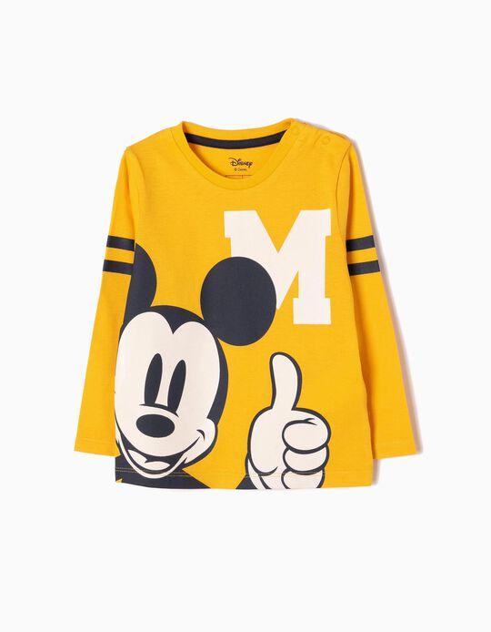 Camiseta de Manga Larga Mickey Amarilla