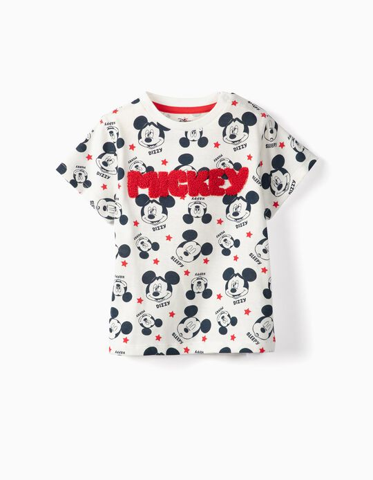 T-shirt for Baby Boys 'Mickey', White