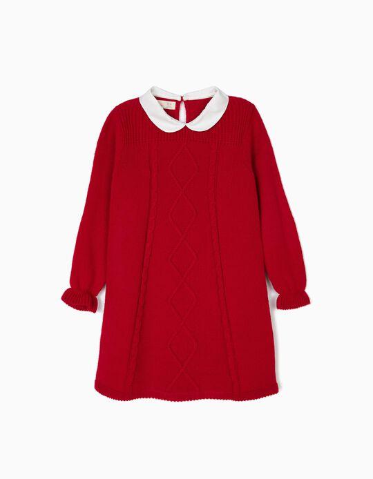 Vestido de Malha Menina Vermelho B&S