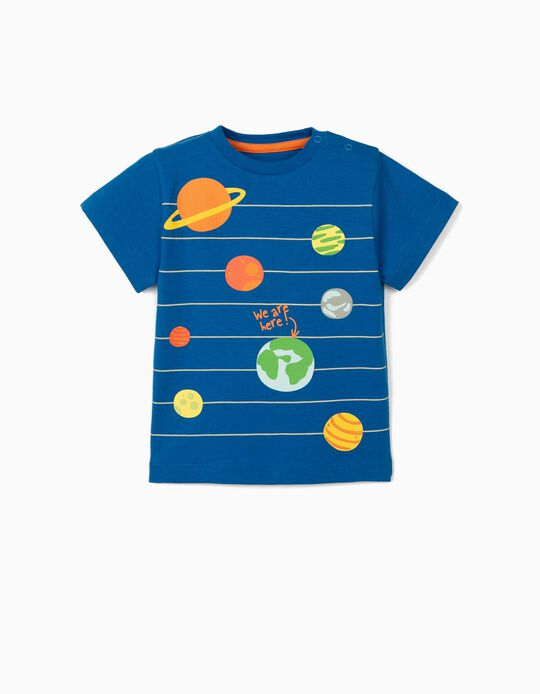 T-shirt for Baby Boys, 'Planets', Blue