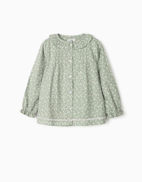 Blusa de Flores para Niña, Verde