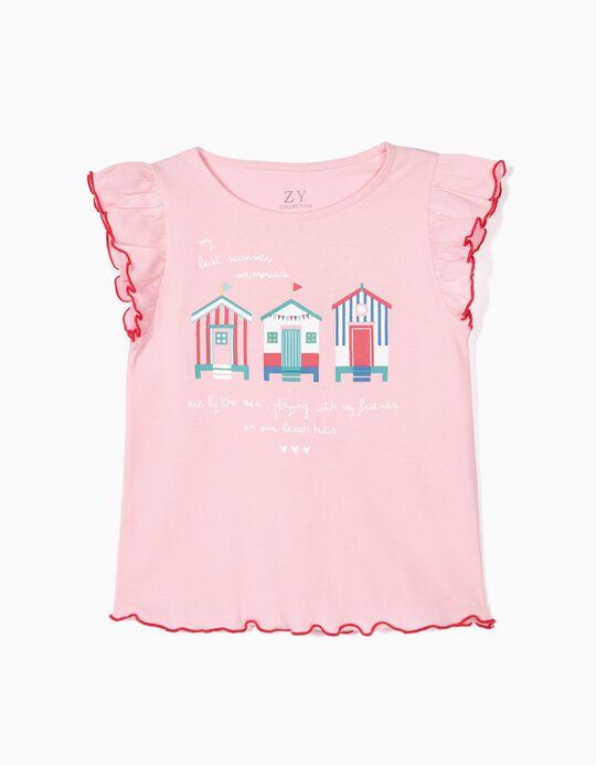 T-shirt para Menina 'Summer Memories', Rosa