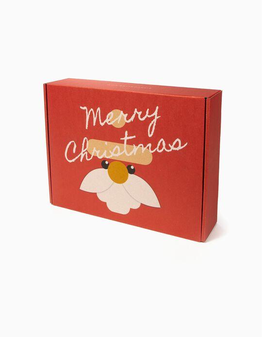 Caixa Presente de Natal Grande, Vermelho