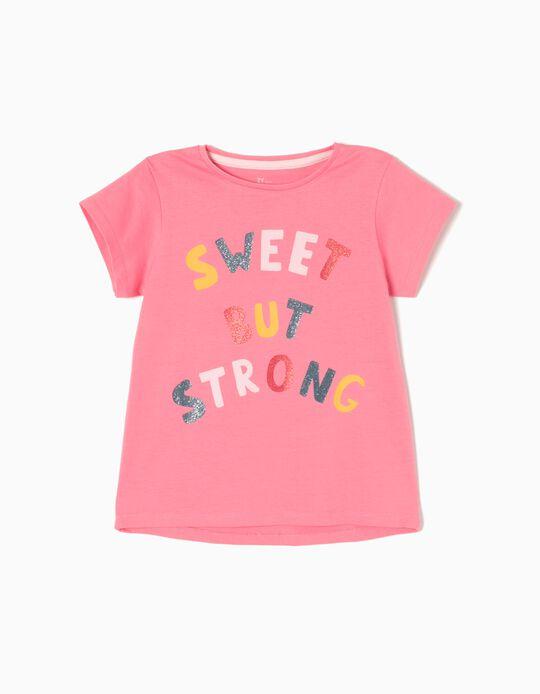 Camiseta Strong Rosa