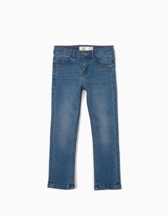 Pantalón Vaquero para niño Slim Fit, Azul