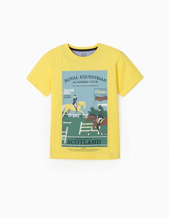 T-shirt for Boys, 'Scotland', Yellow