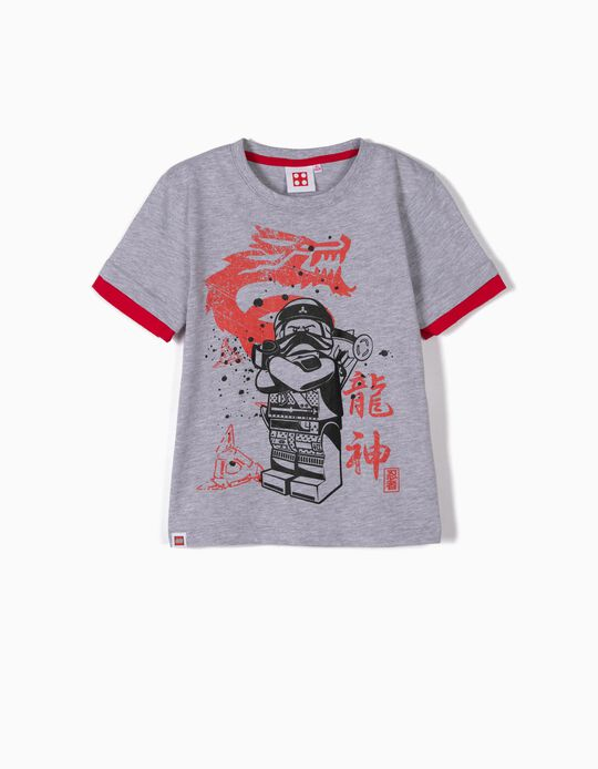 T-shirt para Menino 'Lego Ninja Kai', Cinza