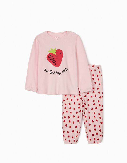 Pyjamas for Baby Girls, 'So Berry Cute', Pink